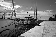 Ahoi! (zhezhan) Tags: sea boat xt2 fuji bw šibenik šibenskokninskažupanija croatia hr
