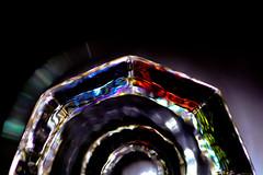 Bottoms Up (Tomo M) Tags: bottomsup macromondays glass color bottom macro light upsideup half