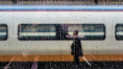 Window Paine. (sdupimages) Tags: train pluie goutte drop rain tgv eurostar tmst station gare bokeh paris street rue