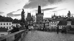 Arrival in Prague (McQuaide Photography) Tags: prague praag praha czechrepublic českárepublika czechia centraleurope europe sony a7rii ilce7rm2 alpha mirrorless 1635mm sonyzeiss zeiss variotessar fullframe mcquaidephotography adobe photoshop lightroom manfrotto tripod light architecture outdoor outside building city capitalcity longexposure landmark touristattraction travel tourism gothicarchitecture gothic charlesbridge karlůvmost malástrana lessertown bridgetower tower gate blackwhite bw blackandwhite mono monochrome old oldbuilding history historic 169 widescreen wideangle nd ndfilter neutraldensity bwfilters