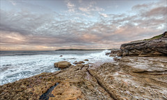 Turn around when possible (JustAddVignette) Tags: australia clouds cloudysunrise early headland landscapes lowtide mahonpool maroubra newsouthwales ocean rockpool rocks seascape seawater sky southeasternsuburbs sydney water waves