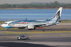 "N559AS | Boeing 737-890/W | Alaska Airlines (special ""Salmon-Thirty-Salmon II"" livery) (cv880m) Tags: newyork kennedy jfk kjfk airliner aircraft airplane jetliner aviation boeing n559as 737 738 737800 737890 alaska alaskaairlines salmon fish salmonthirtysalmon wildalaskaseafood markboyle etops winglet"