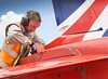 Red Arrows-Exercise SPRINGHAWK (Defence Images) Tags: cpl corporal jnco male man identifiable personnel inspection eardefenders repairs preflightcheck engineering engineer royalairforceaerobaticteam rafat theredarrows greece springhawk royalairforce raf equipment aircraft training fixedwing hawk t1 redarrows exercisespringhawk defence defense uk british military tanagra