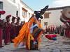 Back to the main square with the final Tsowo ritual dance (alainloss) Tags: nepal uppermustang lomanthang tijifestival tsowo ritualdance