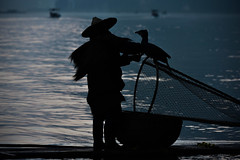 Stay With Me (Anna Kwa) Tags: cormorantfisherman cormorant moment liriver yangshuo guilin guangxi china annakwa nikon d750 afsnikkor70200mmf28gedvrii my stay always byyourside seeing heart soul throughmylens sunrise light silhouettes bond travel world destiny fate lost dawn wmh