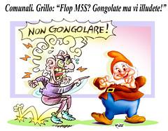 """GrilloGongolo (Moise-Creativo Galattico) Tags: editoriali moise moiseditoriali """"editorialiafumetti"""" giornalismo attualità satira vignette gongolo flop grillo m5s"""