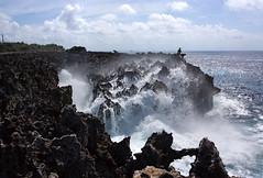 Water Blow in NusaDua (MelindaChan ^..^) Tags: bali indonesia 印尼 巴里島 water blow nusadua cliff chanmelmel mel melinda melindachan wave ocean fishing life people lava