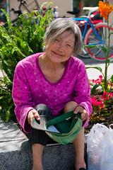 Homeless but friendly (anynamus) Tags: 2017 folies franco montréal homeless outdoor woman