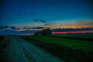 the barn at sundown