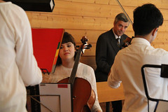 IMG_2533_neu (the real Caffeamore) Tags: concert cello violin viola organ wanderkonzert classical music musicians culture church chapel woods water reservoir küsnacht switzerland prize opera aria singer horn flute trio quartet piano ensemble