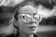 . (www.piotrowskipawel.pl) Tags: portrait jelczlaskowice województwodolnośląskie poland woman girl face sunglasses reflections reflection architecture palace