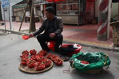 Streets of Xiamen, China (@liripi) Tags: china xiamen asia culture travel sell strawberries fruits market man wanderlust