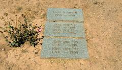 Pima County Cemetery (Midnight Believer) Tags: tucsonarizona pimacountycemetery johndoe unknown death finalrestingplace headstones tombstones gravestones graveyard americansouthwest