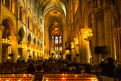 Interior of Notre Dame cathedral (pacogranada) Tags: notredame paris france francia interior catedral cathedral