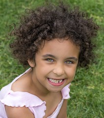 Toothless terror!! (Lorrainemorris66) Tags: greeneyes curlyhair smiling happy portraits missingtooth kids child