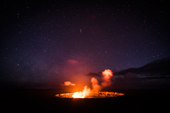 Kilauea at Night (Ben Haller) Tags: hawaii big island volcano national park lava kilauea kauai nkon d750 arial landscape nature waterfall pacific