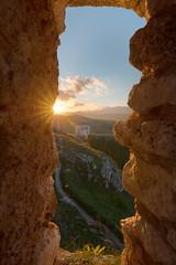 Window on sunset (DABMARCO www.marcodabbruzzi.com) Tags: sunset rocca calascio chiesa santa maria della pietà abruzzo sun cloud nature italy