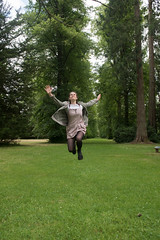 Jump for the trees (davegouldie) Tags: jump trees westonbirt d750 nikon green leap arms sky