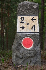 Punkaharju - In between (pix-spotting) Tags: punkaharju finland milestone distance inbetween stone