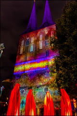 St. Nicholas' Church Festival of Lights in Berlin (KSDiaz) Tags: berlin germany festival lights nightscape landscape after dark guardians light night projector design color guardiansoftime time mysterious