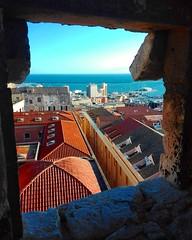 Cagliari (Michela288) Tags: cagliari sardegna sardinia italia italy vista view città city cielo sky mare sea landscape land terra colori color colors home house case tetti panorama paesaggio