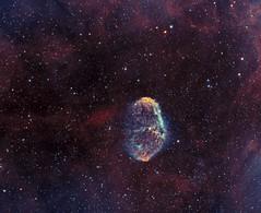 Crescent Nebula - NGC6888 (farhangzia) Tags: nebula astronomy astrophotography space crescent ngc6888 narrowband bicolor