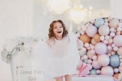 LeonaStage (olgagalkina1) Tags: leonastage nn people color canon portrait girl white balloons flowers powder light bright canon85mm18 85mm bokeh