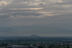 come un'isola (Clay Bass) Tags: 1680 cavour saluzzo clouds d500 evening fog mist nikon rocca sky summer