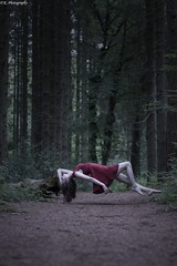 Ascending (patrick.kerstin) Tags: levitation floating model girl red dress forest magic magical surreal surrealism fairy tale