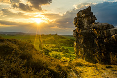 2017 Sunset at Devils Wall (jeho75) Tags: zeiss sony ilce 7m2 deutschlandgermany harz harzvorland teufelsmauer devils wall sonnenuntegang sunset golden light festbrennweite hdr