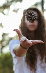 Day 299 (inbar_stern) Tags: nature portrait girl acorn summer sun sunny green friend canon 365 365daysproject 365dayschallenge 365challenge 365project 365days project365