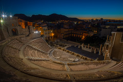 Ancient memories..... (Dafydd Penguin) Tags: tripod night shots long shuuter speed slow ancient historical history past amphitheatre cartagena southern spain carthage shot after dark urban city ruins nikon d610 nikkor 20mm af f28d