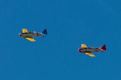 WWII_Weekend_2017-003.jpg (tnettleton40) Tags: wartime training aircraft wwiiweekend airplane flying retro vintage red bluesky blue readingairport plane snj6 t6 propeller ww2 yellow restored aviation