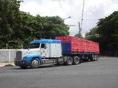 Freightliner with a lot of Brahma beer (RD Paul) Tags: freightliner truck camion dominicanrepublic repúblicadominicana santodomingo trucks camiones