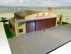 Westpoint Airfield (JonHall18) Tags: lego moc dieselpunk ww2 aircraft plane hangar military fantasy aerodrome airfield airport airstrip landing base