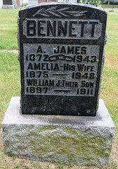 Bennerr, James A.  1872 - 1943 (Hear and Their) Tags: grave marker stone gravestone tomb tombstone greenhill cemetery kingsville fraternal masonic oddfellow