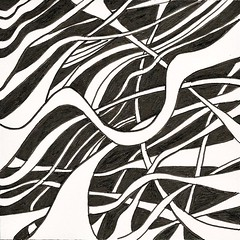 (Abstract 777) Tags: doodle doodles doodleart psychedelic psychedelicart blackandwhite penandink abstract abstractart outsiderart outsider zentangle tangle drawing art sketchbook
