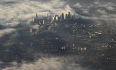 Good morning London (2) (Mahmoud R Maheri) Tags: morning london fog city buildings arealview england landscape uk lowclouds shadows airplane sky
