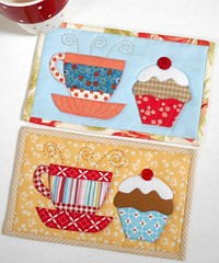 Tea and Cake Mug Rugs (The Patchsmith) Tags: patchsmith patchsmithpatterns mugrug mugrugs teaandcake applique patchwork miniquilt