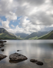 Scafell, Lingmell Crag From Wast Water (dave.mcculley) Tags: scafell pike wast water rocks sky clouds lingmell crag hiking walking climbing long exposure canon outdoors