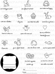 Tiny Treats Valentine's Day (Issy Stamps) Tags: valentinesday frame heart dog cupcake plane fish bucket owl friend cat dinosaur boat rabbit tofrom