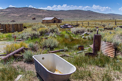 Who Used All the Hot Water? (Jill Clardy) Tags: bodie bodiestatepark california ghosttown northamerica usa junk yard car parts tub bathtub eastern sierra 20120820img5262hdr