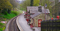 Haworth Station (Gerry Hat Trick) Tags: kwvr oxenhope keithley howarth railway rail steam station loco locomotive yorkshire walking walk hiking hike preserved line platform yorks bronte country wuthering hights quaint english