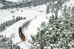 Skiing to the Front Range (douglilly) Tags: denverriogrande skjtrain gp402 eunnel1 plainview