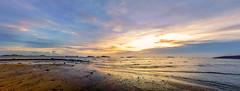 Evening, Lung Kwu Tan HK (kcma17) Tags: sunset beach water sky blue red art fantastic marvelous intriguing fantastical beautiful clever subtle fine wonderful brilliant excellent splendid amazing remarkable landscape night