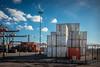 modern (p_v a l d i v i e s o) Tags: 24105mm 5d3 canon5d canon5dmk3 canonef24105mmf4lisusm canoneos5dmarkiii ef24105mmf4 lisboa lisbon lisbona lissabon bridge container containers harbour industriallandscapes liscont polarizingfilter terminal
