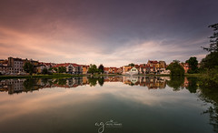 Mrągowo my beautiful hometown panorama (Pastel Frames Photography) Tags: mrągowo poland lake town centre reflections clouds sunset polska miasto jeziorko odbicie chmury niebo canon5dmark3 canon1635mm landscapephotography cityscape travel travelphotography