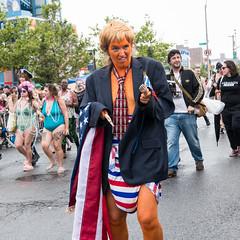 President Cheeto (UrbanphotoZ) Tags: mermaidparade coneyislandmermaidparade cheeto trump diaper littlehands americanflag toolongtie marchers photographers mermaidsonly mermaids tattoos mardigrasbeads holloweyes russianflags coneyisland brooklyn newyorkcity newyork nyc ny donaldtrump