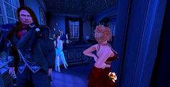 The Investigators (Hollow's End) Tags: second life sl hollows end he rp roleplay role play virtual world social night club hotel urban horror event nocturne alcohol drinking champagne aristocrats noble investigators dark sapphire delight roses
