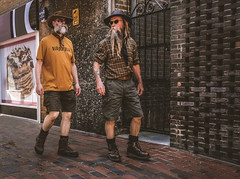 Brighton beardies (phil anker) Tags: people street brighton beard fujix70